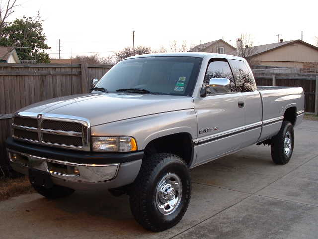 'Big Iron', my 400hp 4x4 Dodge. I figure if I've gotta drive a cage, it might as well be a fun one . . .