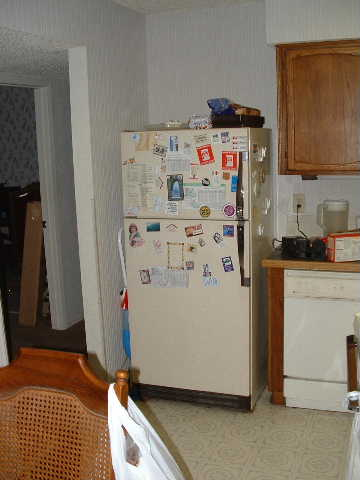 The old fridge. Got room for a bit more, yes?