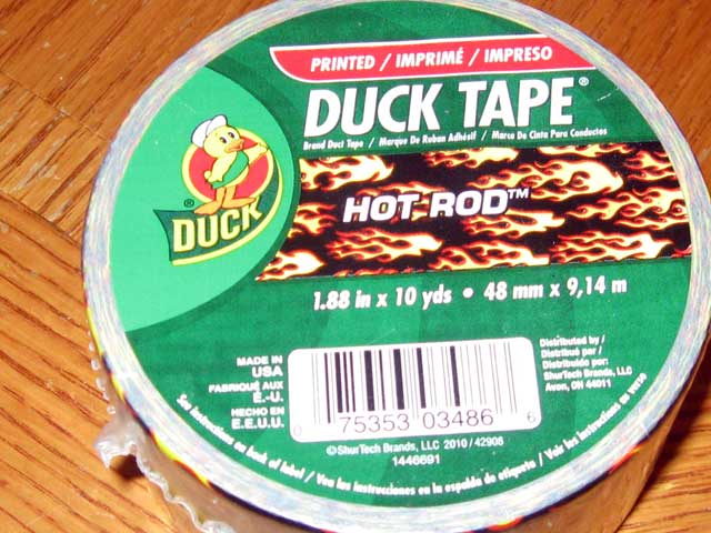 The proper material. Real man's duct-tape!