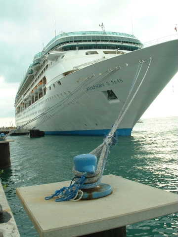 The 'Rhapsody of the Seas' out of Galveston, Texas