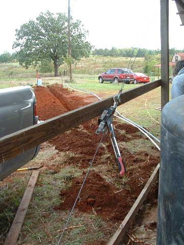 Oooo...hand-made ditch!
