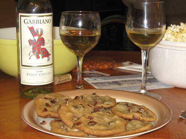 Always choose the correct wine to go with your popcorn and chocolate chip cookies.