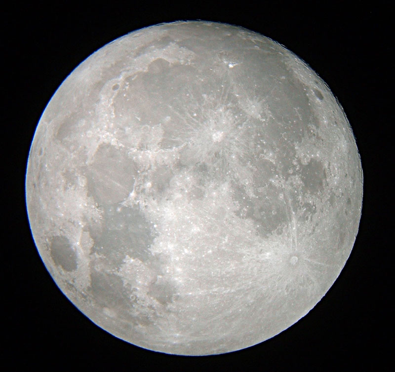 Moon - shot by me via digital camera and my wife's telescope.