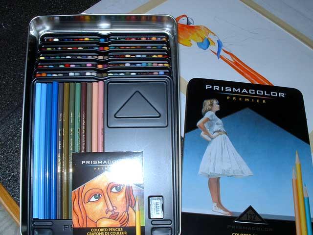 Prismacolor pencils. Lots of prismacolor pencils.