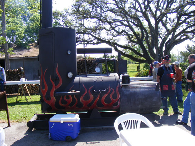 Big flaming smoker!