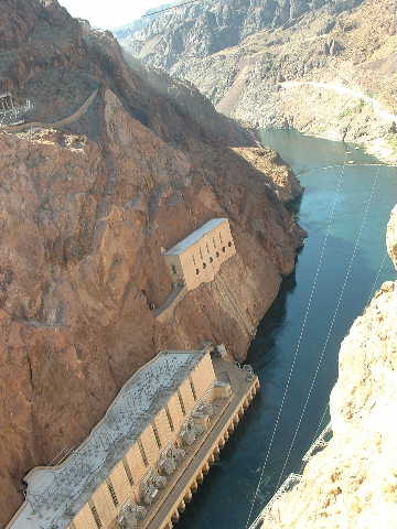 A pic of hoover dam powerhouses