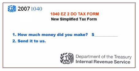 Simplified tax form (send it all)