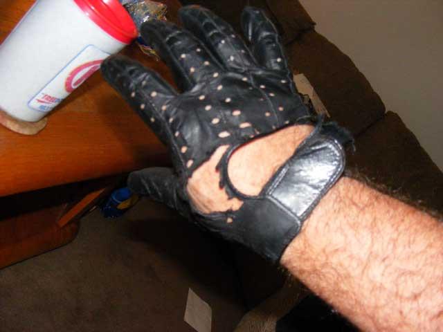 Blown glove.